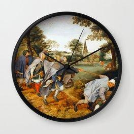 "Pieter Bruegel (also Brueghel or Breughel) the Elder ""The Blind Leading the Blind"" Wall Clock"