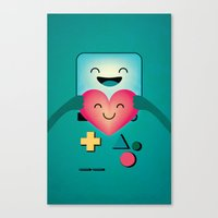 bmo Canvas Prints featuring BMO  by Milli-Jane