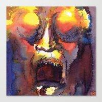 fear Canvas Prints featuring Fear  by Stevyn Llewellyn