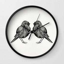 Little Blackbirds Wall Clock