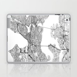 Seattle White Map Laptop & iPad Skin