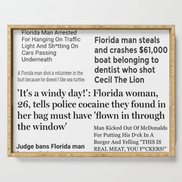 Florida People Serving Tray