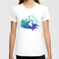 canada T-shirts featuring Canada by Stephanie Wittenburg