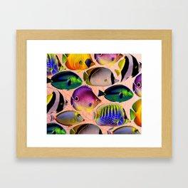 Undersea living colors Framed Art Print