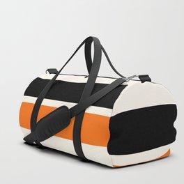 2 Stripes Black Orange Duffle Bag