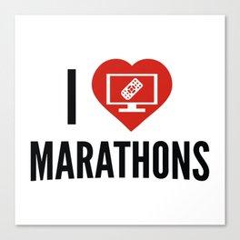 I Love Marathons Canvas Print