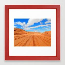 Powdered Desert Framed Art Print
