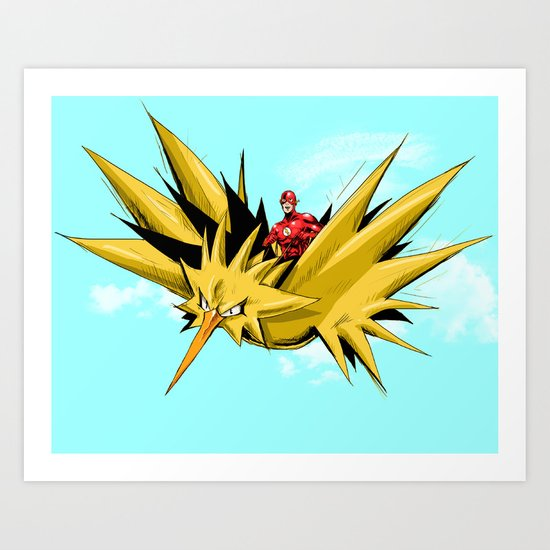 Flash-Dos Art Print