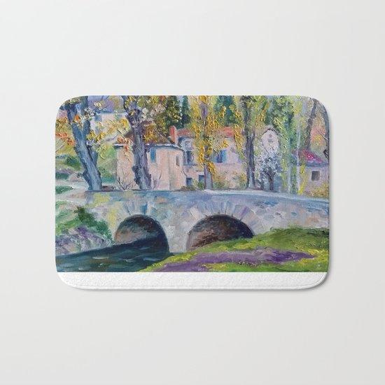 The bridge across the river Bath Mat