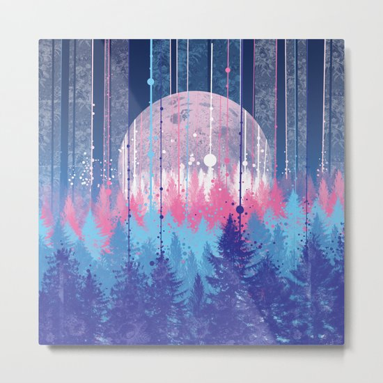 Rainy forest Metal Print