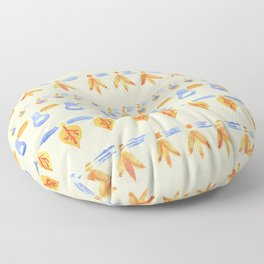 Hand-painted Autumn watercolour leaves Floor Pillow