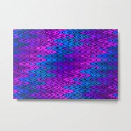 WAVY #2 (Purples, Violets & Turquoises) Metal Print