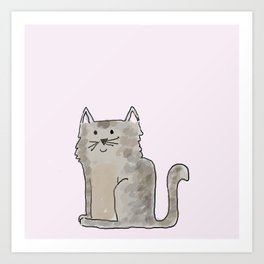 Cute and lovely cat Lupita Art Print