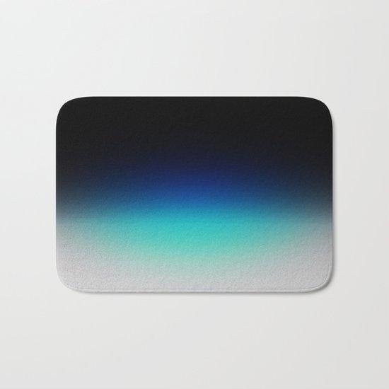 Blue Gray Black Ombre Bath Mat