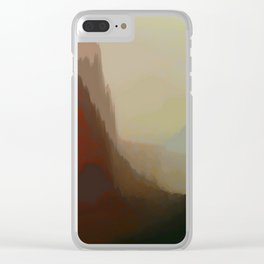 abstract, glitch Clear iPhone Case