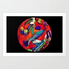 Mon Monde Art Print