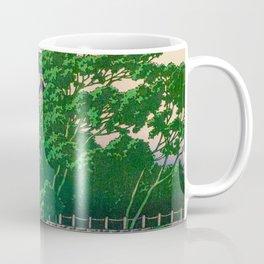 Kawase Hasui Vintage Japanese Woodblock Print Nagoya Castle Coffee Mug