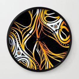 Fiery threads Wall Clock