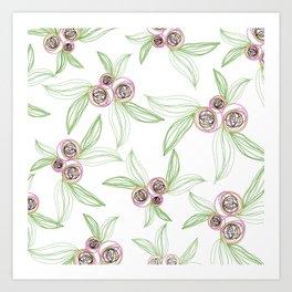 zipper floral Art Print