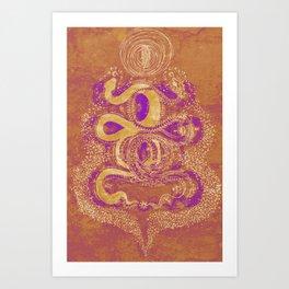 Snake Destiny (Golden Colors) Art Print