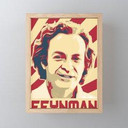 Richard Feynman Retro Framed Mini Art Print