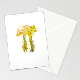 Daffodils watercolor Stationery Cards
