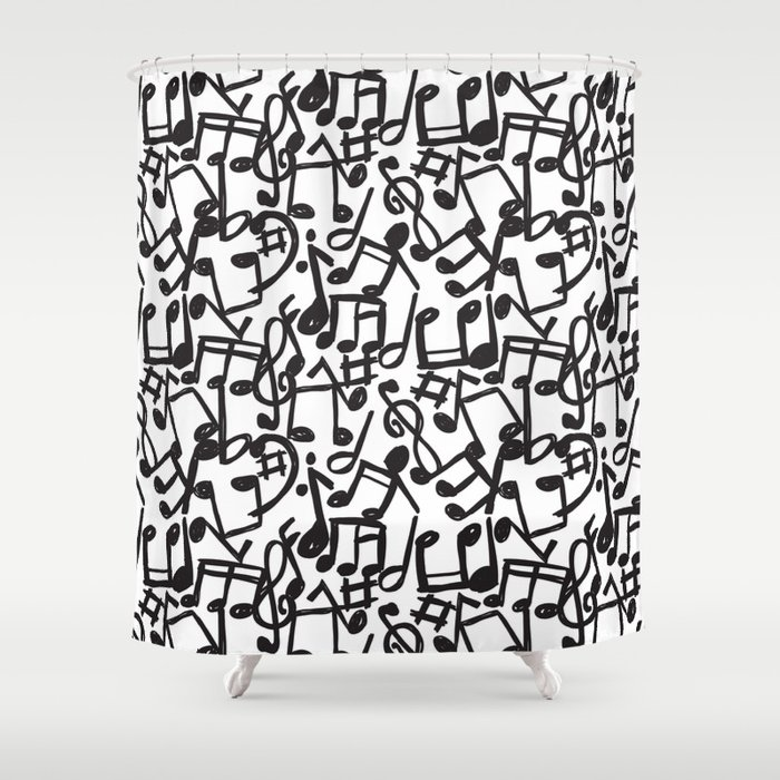 music Shower Curtain by mondebettina | Society6