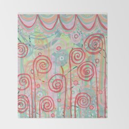 Fiddlehead Throw Blanket