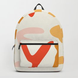 Yes, Yess, Yesss, Abstract Modern Collage Typography  Backpack