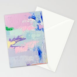 MAVEN 2 // ABSTRACT MIXED MEDIA ON CANVAS Stationery Cards