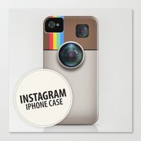 instagram Canvas Prints featuring INSTAGRAM by Gal Ashkenazi