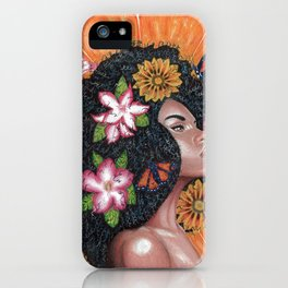 Summer Time Black Woman iPhone Case