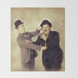 Laurel and Hardy, Hollywood Legends Throw Blanket