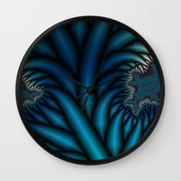 chakra Wall Clocks featuring Soul Chakra by Christy Leigh