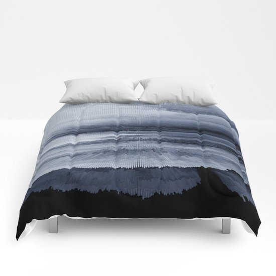 Abstract black painting 2 Comforters