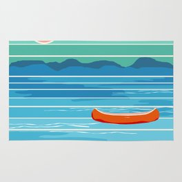 Minnesota travel poster retro vibes 1970's style throwback retro art state usa prints Rug