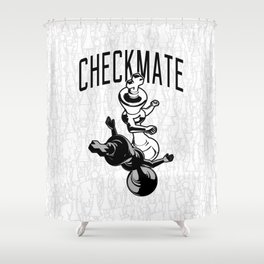 Checkmate Punch Funny Boxing Chess Shower Curtain