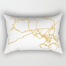 HONG KONG CHINA CITY STREET MAP ART Rectangular Pillow