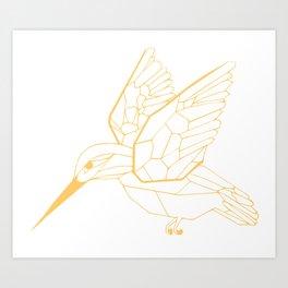Kingfisher Butterscotch Art Print