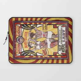"""""""Millie Normel- the Totally Tattooed Lady"""" Sideshow Poster Laptop Sleeve"""
