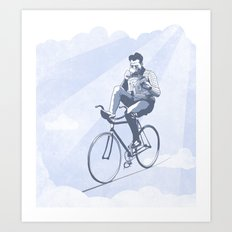 Bike and Coffee (Heaven) Art Print