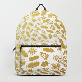 el dorado // gold leaf pattern Backpack