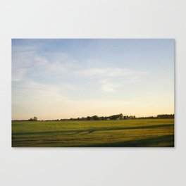 Midwest Fields Sunrise Canvas Print