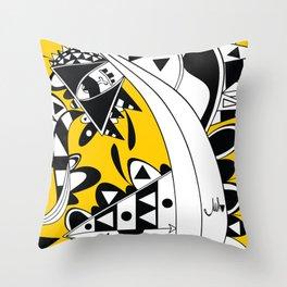 YELLOW TRIANGLE  Throw Pillow