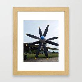 Aviation engine propellers Framed Art Print