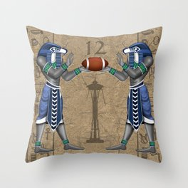 Seahawk Pharoah Throw Pillow