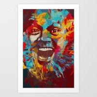 jack nicholson Art Prints featuring jack nicholson  by zarna