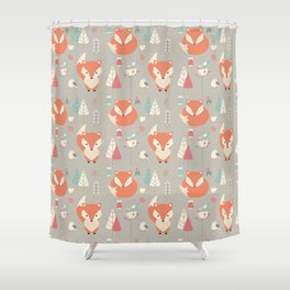 Baby fox pattern 01 Shower Curtain