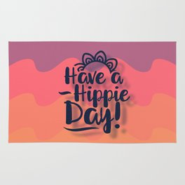 Have a Hippie Day Rug