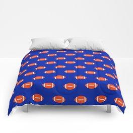 Football Florida University silhouette orange and blue pattern sports college gators gator fan Comforters